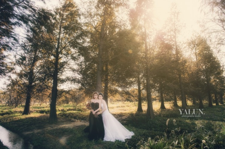 Pre-Wedding,自助婚紗,台北婚紗,亞倫婚禮攝影工作室,I am YUKI,八德落羽松,拉芙蕾絲手工婚紗